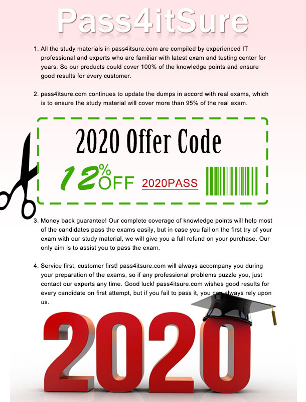 Pass4itsure coupon 2020
